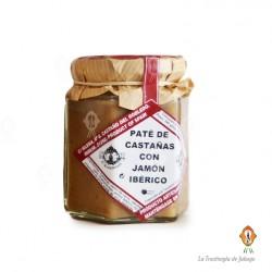 Pate de castañas con jamon iberico